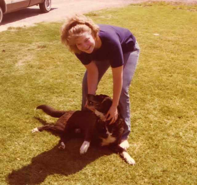 Socks and me, 1983-ish.